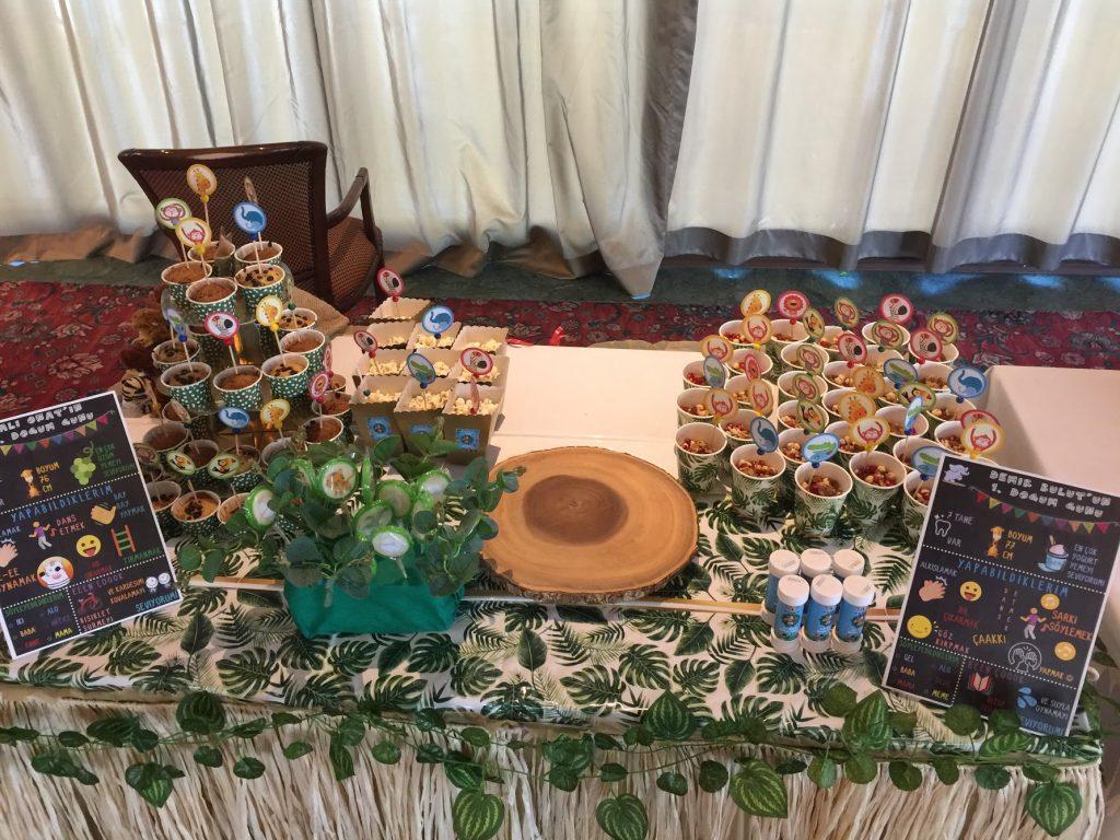 1 yaş doğum günü - Doğum günü masası